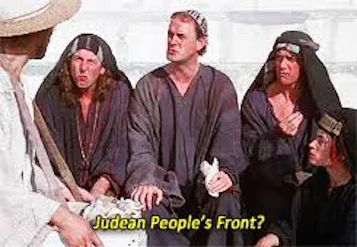 Photo from Monty Python movie The Life of Brian
