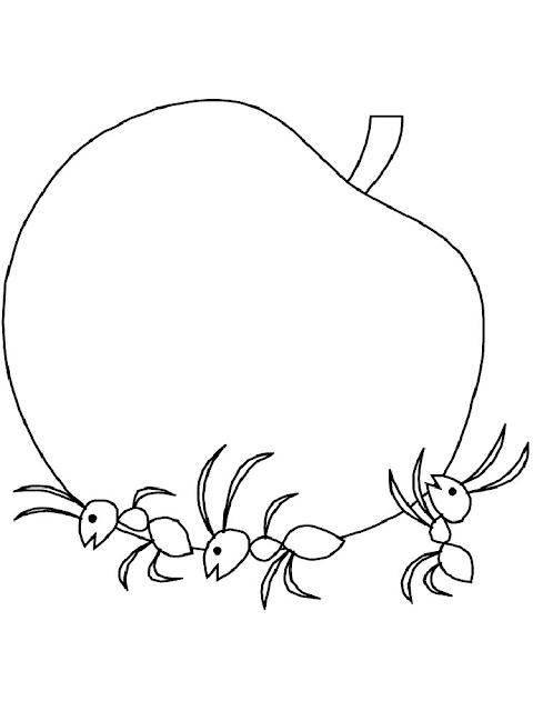 Gambar Mewarnai Semut - 21
