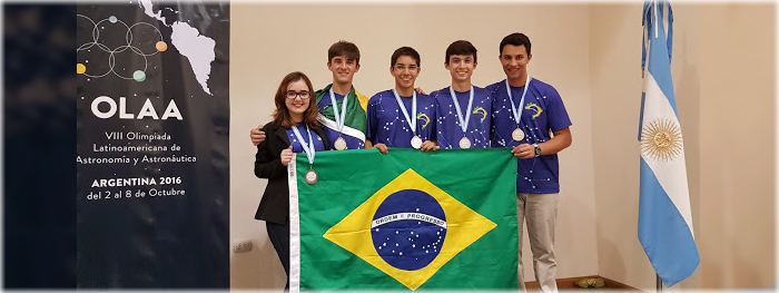 Brasil vence as olimpiadas de Astronomia e Astronáutica