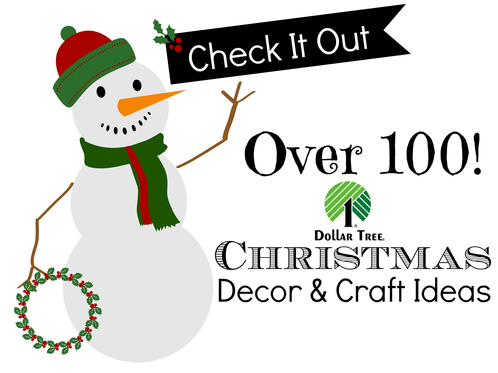 Dollar tree 100 christmas decor and craft ideas fox hollow cottage jpg