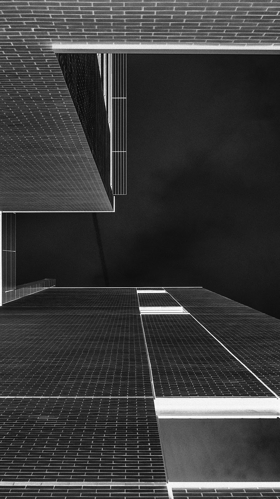 Architecture Art BW Gray City Dark IPhone 7 And Plus HD Wallpaper