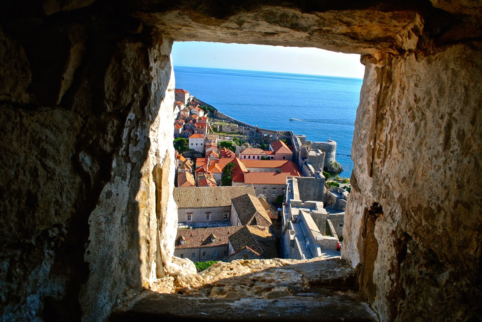 View from the Minceta Tower on the Old Town Wall in Dubrovnik Croatia