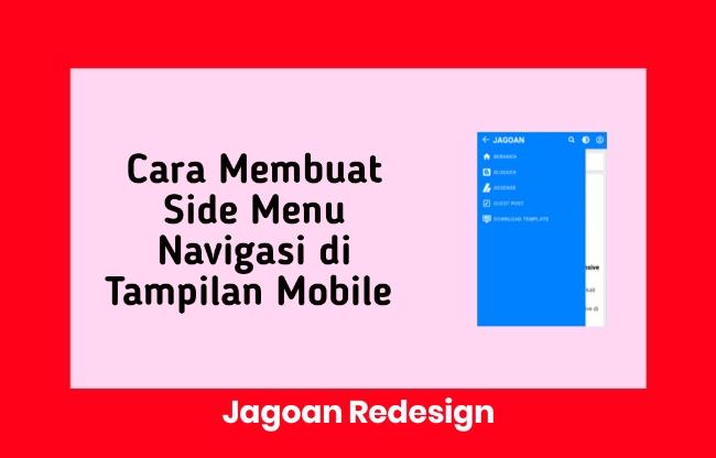 Cara Membuat Side Menu Navigasi di Tampilan Mobile De