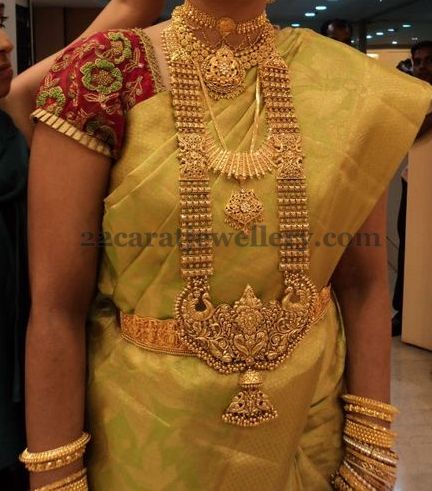 Bride In Big Long Chain And Chokers Jewellery Designs