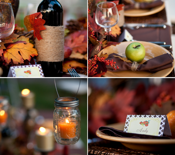 Thanksgiving DIY Tablescape Ideas - via BirdsParty.com