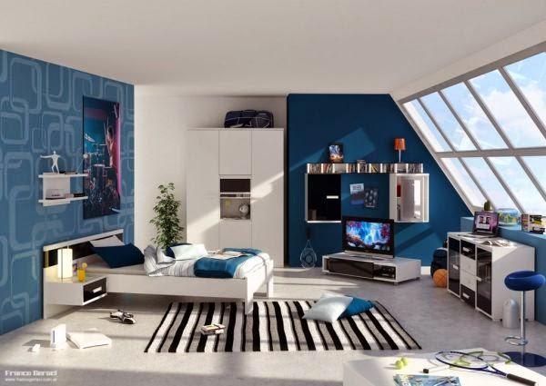 Dormitorios modernos para adolescentes colores en casa - Iluminacion habitacion juvenil ...