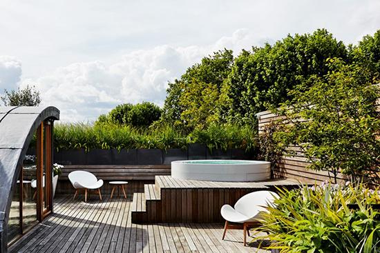 taman di atap rumah minimalis