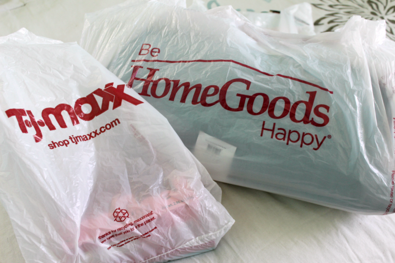 a picture of a Home Goods and TJMaxx shopping bags
