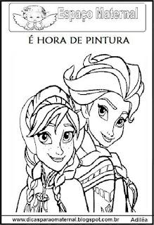 Desenho da Frozen para colorir maternal