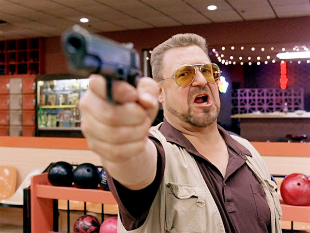 "John Goodman as Walter Sobchak in the ""Mark it Zero"" scene from The Big Lebowski (1998)"