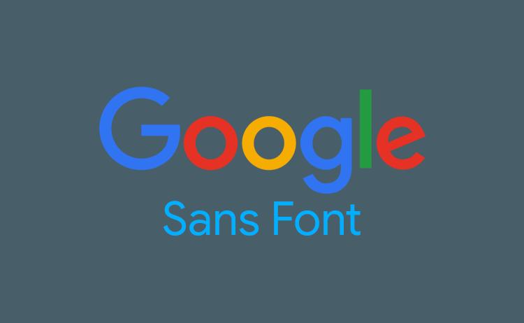 Google Sans Font: Download font logo Google