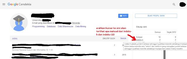 profil google scholar