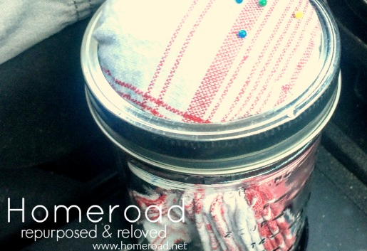 How to make a Mason Jar Craft on the go for long car rides www.homeroad.net