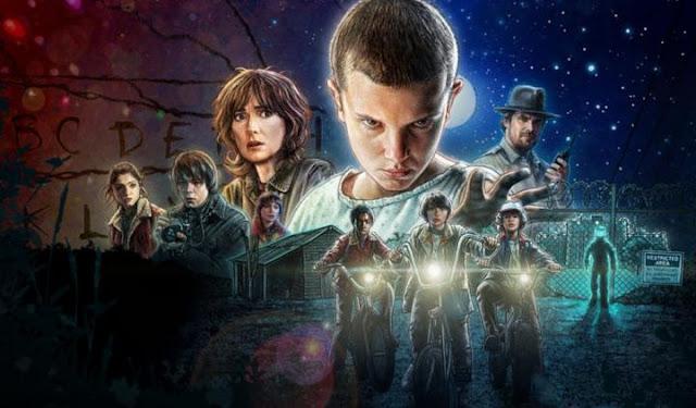 Una de las imágenes promocionales usadas para la serie, totalmente ochentera