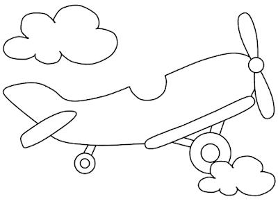 Gambar Mewarnai Pesawat Terbang - 4