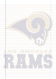 Papel Pautado Los Angeles Rams PDF para imprimir na folha A4