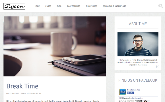 Sycon Blogger Template