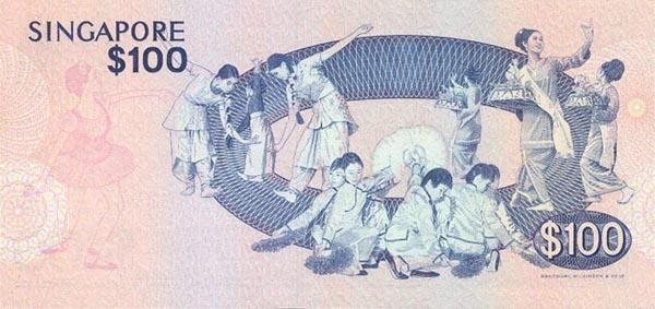 World Banknotes: Singapore P14 100 Dollars