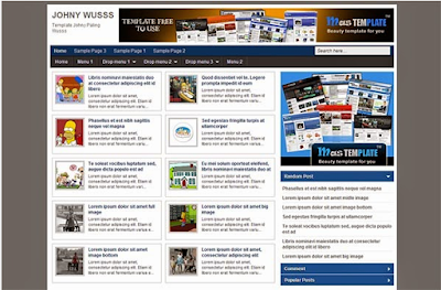 Johny Wuss Blogger Template Gratis Free Download