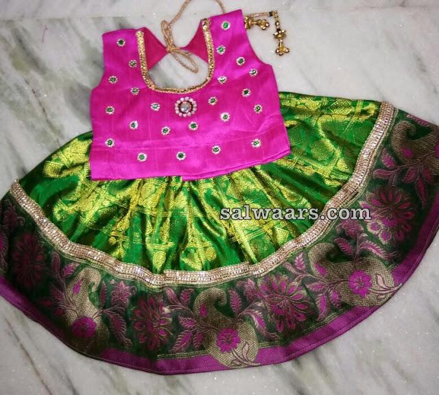 Traditional Lehenga Pink Blouse