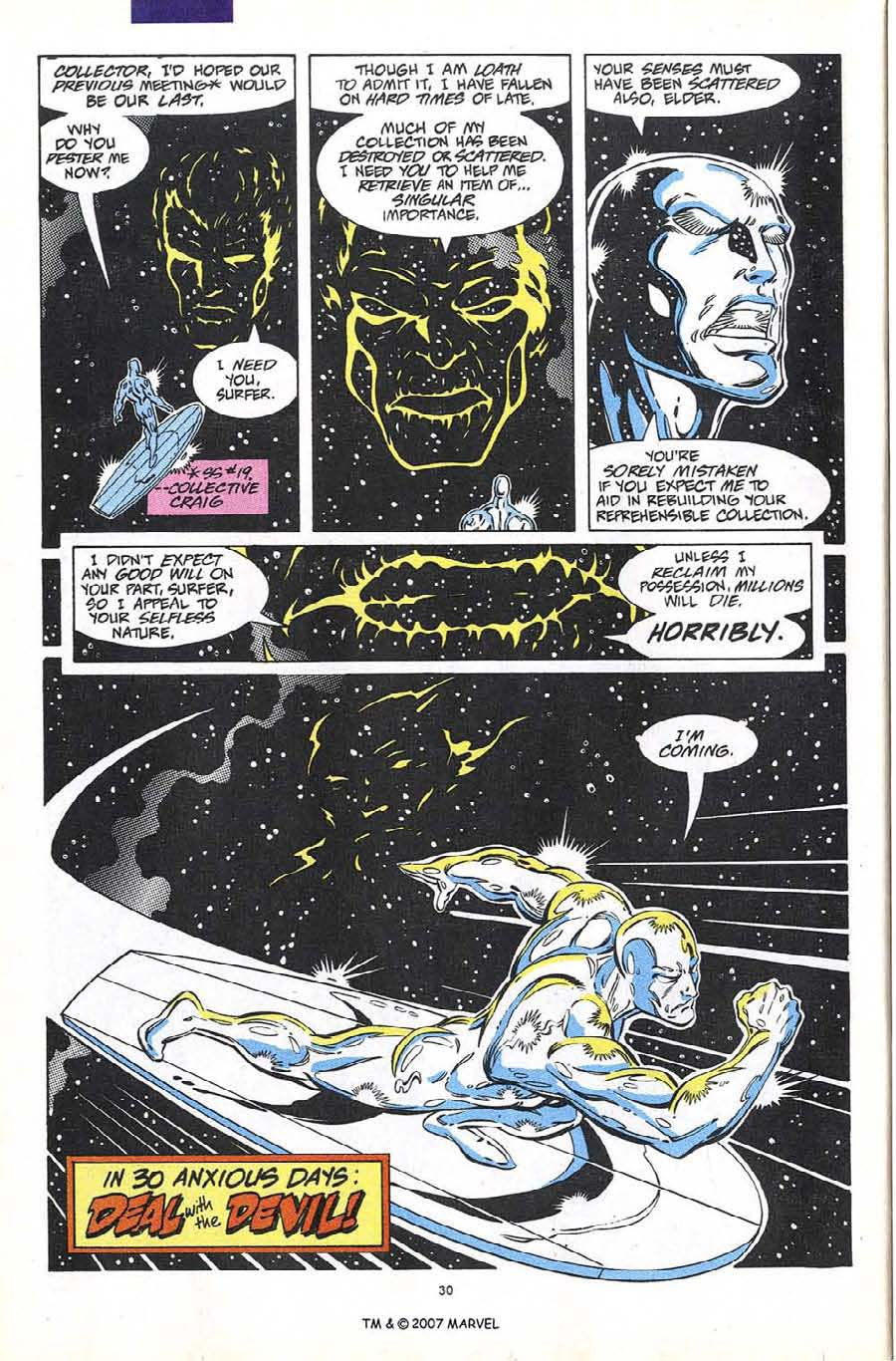 Read online Silver Surfer (1987) comic -  Issue #60 - 32