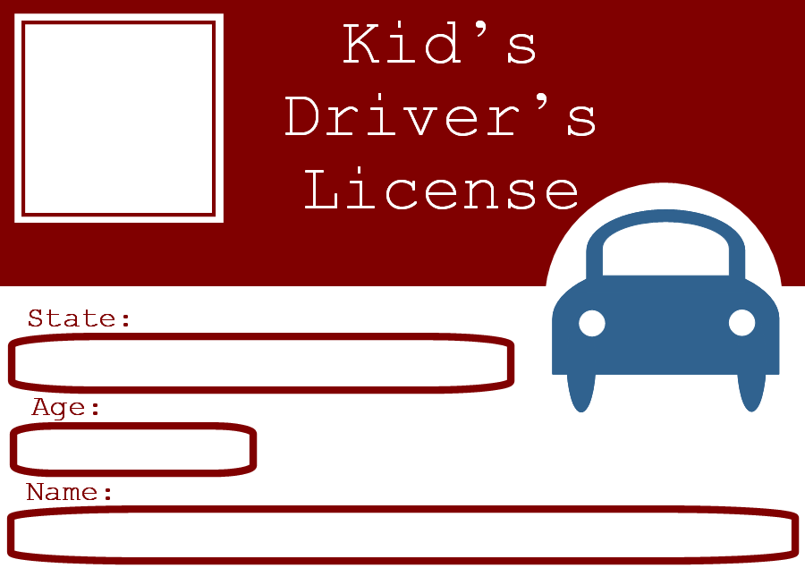 For the little ones who want to be licensed drivers, printable driver ...