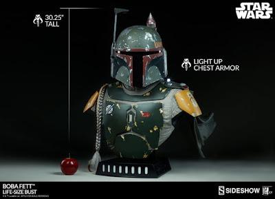 """Abierto pre-order de Boba Fett Life-Size Bust de """"Star Wars"""" - Sideshow"""