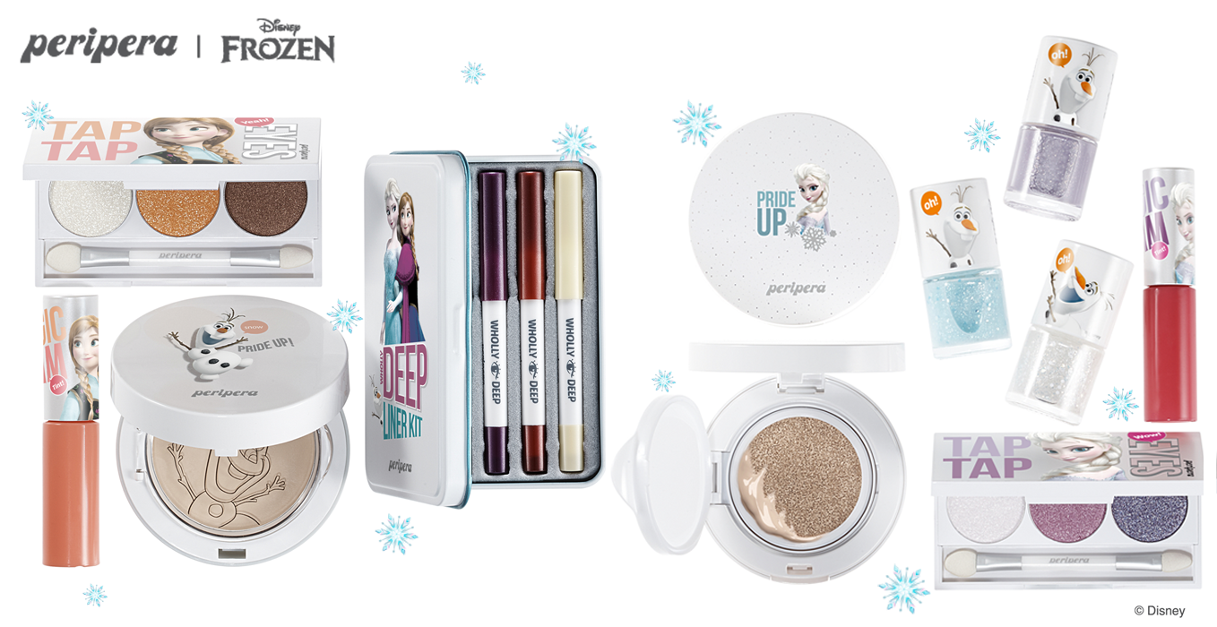 Peripera x Disney Frozen makeup collection