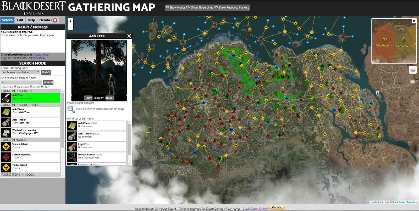 A roleplayers diary kyltanias black desert resources the the interactive bdo gathering map gumiabroncs Images