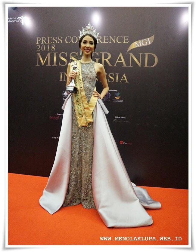Pemenang Miss Grand Indonesia 2018 Nadia Purwoko wakil dari Bengkulu