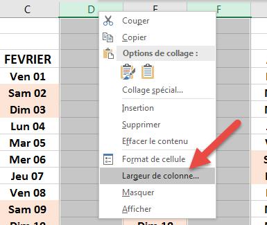 Définir une largeur de colonne fixe pour toutes les colonnes