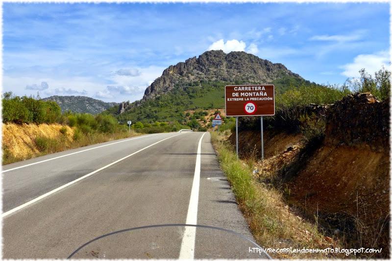 Cartel de Carretera de Montaña
