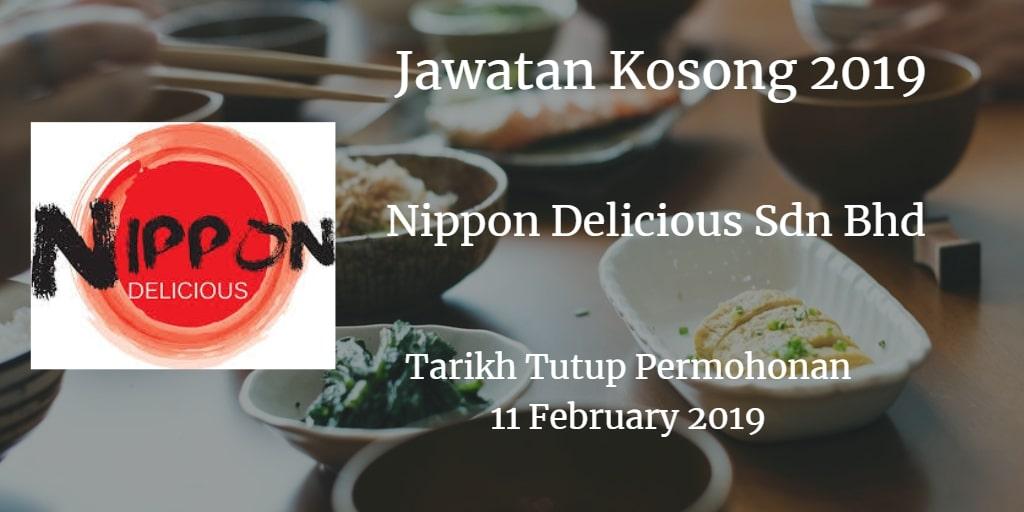 Jawatan Kosong  Nippon Delicious Sdn Bhd 11 February 2019