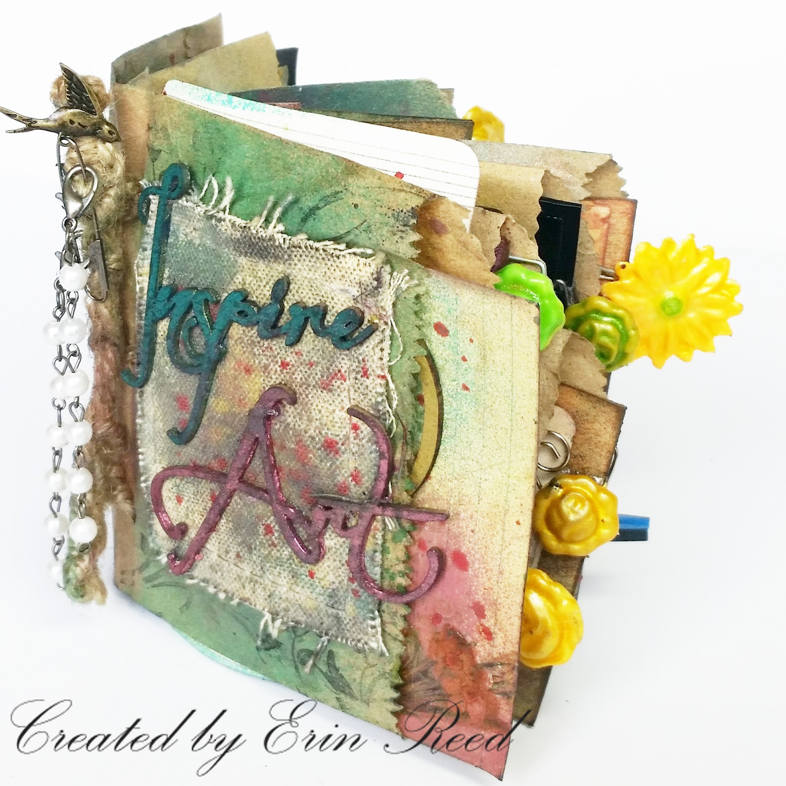 scraps of reflection: Inspire Art Mixed Media Junk Journal w ...