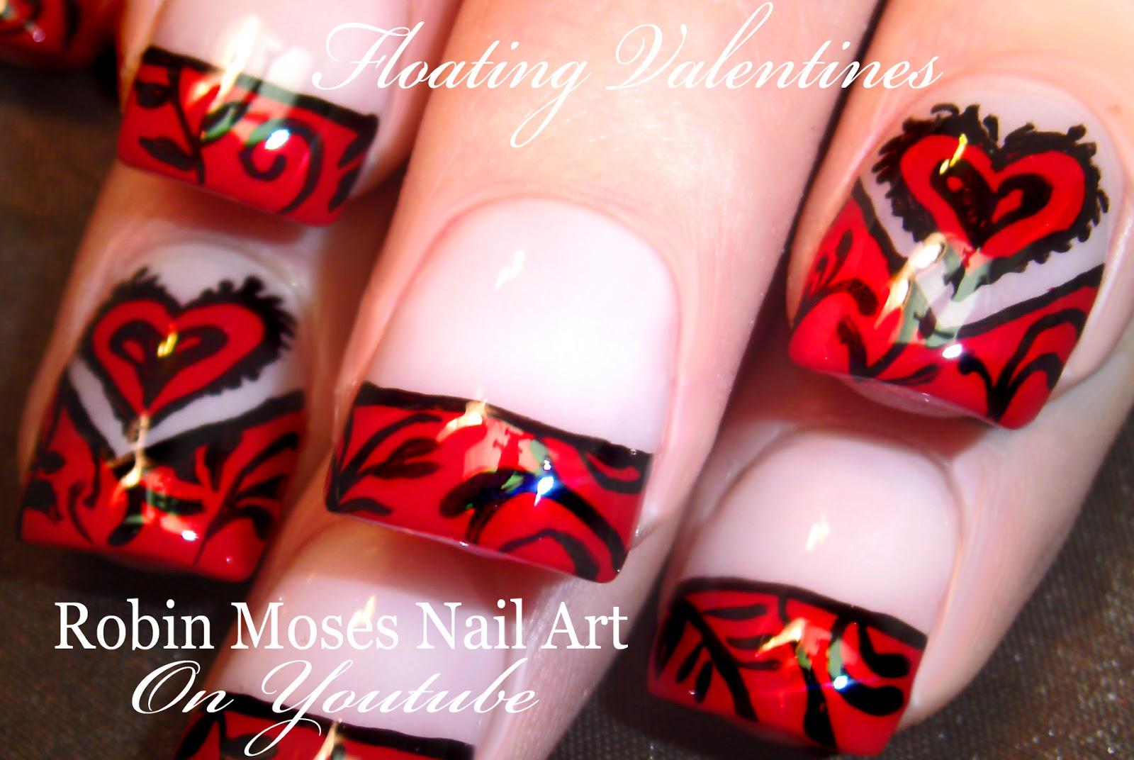 Robin Moses Nail Art Easy Valentine Nails Nails Makeup