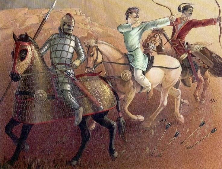 Yuezhi warriors