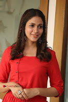 Actress Lavanya Tripathi Latest Pos in Red Dress at Radha Movie Success Meet .COM 0219.JPG
