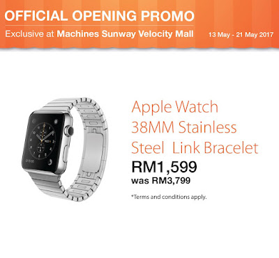 Apple Watch 38MM Stainless Steel Link Bracelet Malaysia Price