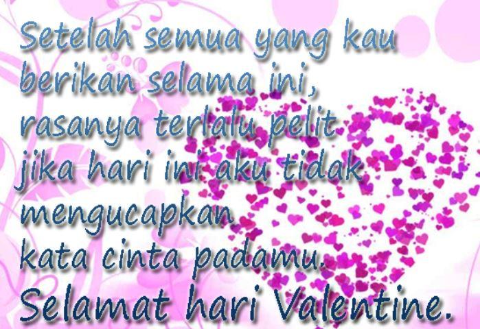 Gambar Dan Kata Ucapan Hari Valentine Yang Romantis Buat Pacar - Lambang Kasih Sayang