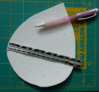 Mark the inside cut with a sewing gauge