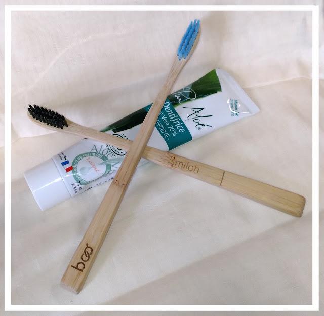 brosses a dents écologiques et dentifrice bio pur aloé