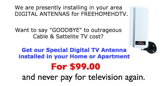 Sick of outrageous cable TV bills? GO FREE.