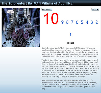 Not even in the top 10 of 'villains who are a dark mirror of Batman'.