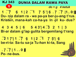 Lirik dan Not Kidung Jemaat 343 Dunia Dalam Rawa Paya