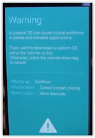 samsung galaxy s6/s6 edge warning