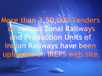 3,50,000 Tenders of various Zonal Railways and Production Units