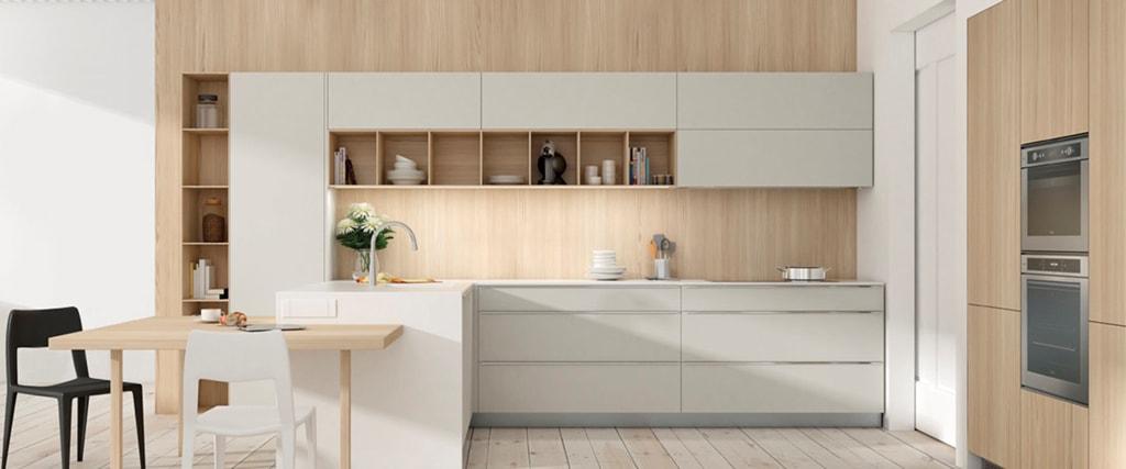 30 ideas de cocinas en blanco y madera (I) - Cocinas con estilo