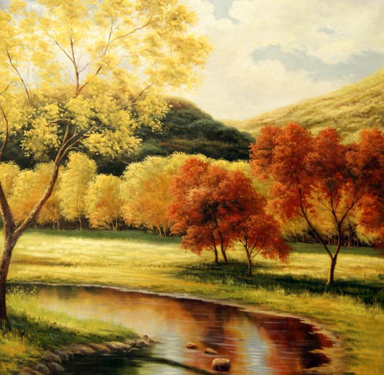 Pintura com floresta