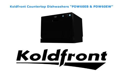 Koldfront countertop dishwashers