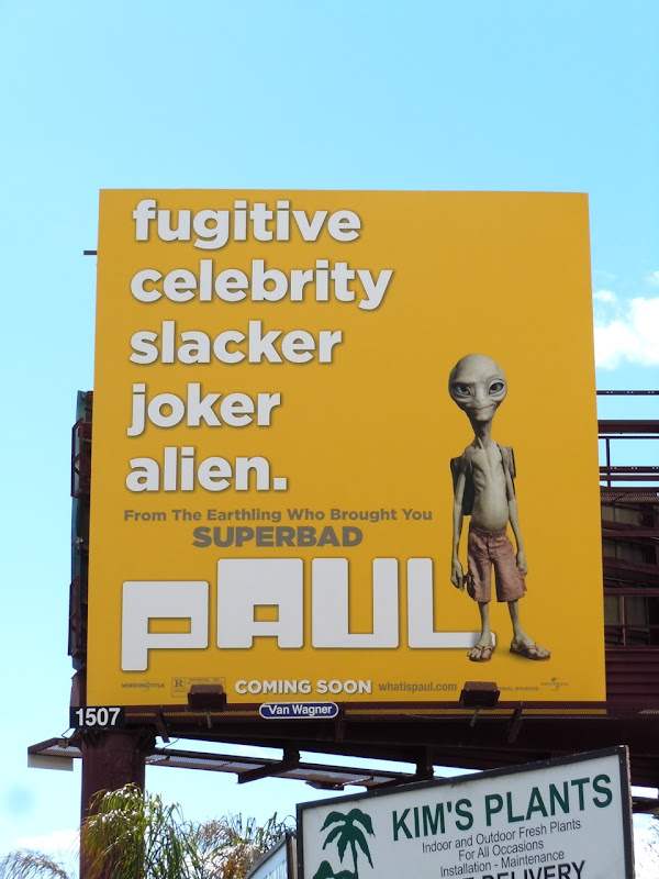 Paul alien movie billboard
